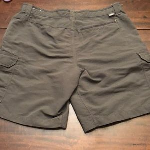 The North Face shorts. Green.  Size 36